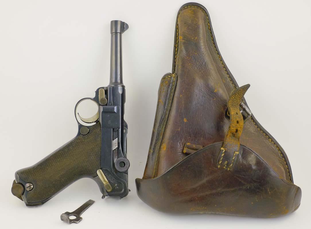 Luger P08 9mm 1917 Erfurt Holster Capture papers | LugerMan