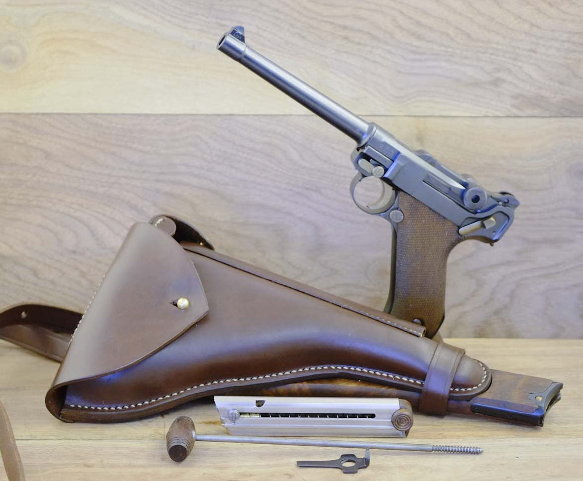 Navy Luger Stock Holster Rig